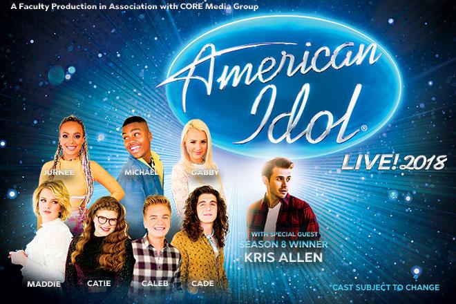 american idol live 2018 mayo performing arts center